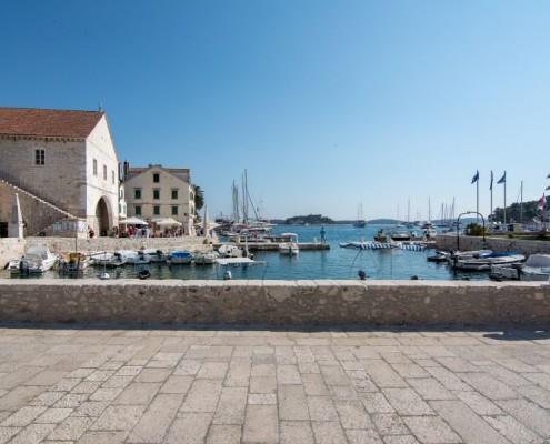 Hvar town port on boat tour