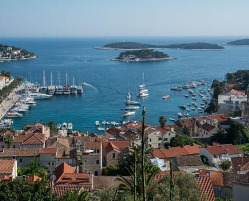 Hvar town view